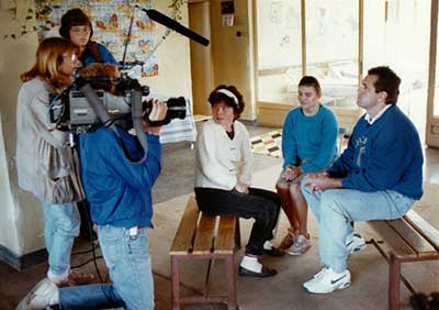 ABC News 20/20 interviewing John Upton at orphanage