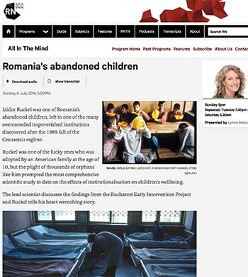 Romanias abandoned children on ABC Radio Network