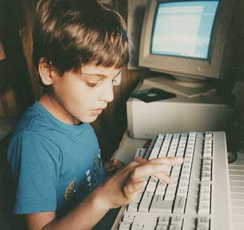 Izidor first time on a computer