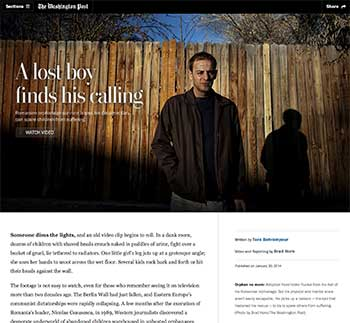 A lost boy finds his calling - Washington Post story