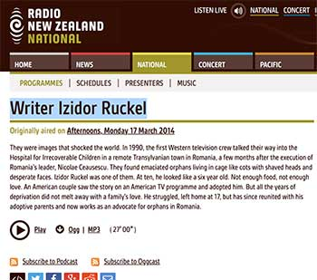 Izidor on Radio New Zealand