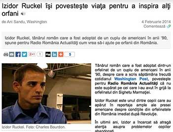 Izidor Ruckel îşi povesteşte viaţa pentru a inspira alţi orfani