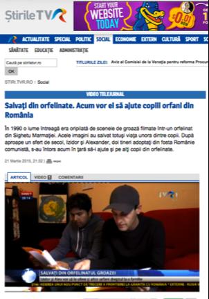 Stirile TVR story Izidor and Alex