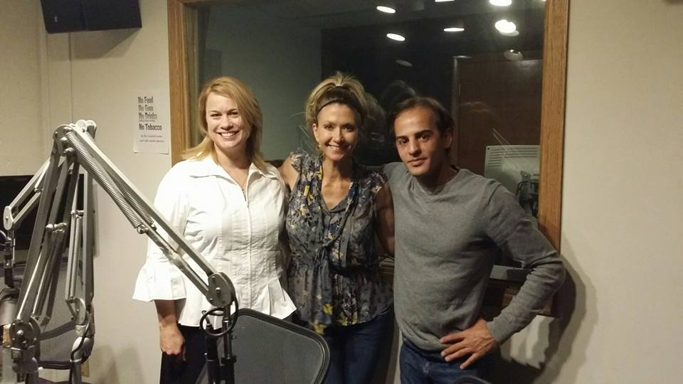 Sarah Padbury, Stacy Petty and Izidor Ruckel in studio at 1310 KFKA talk radio.