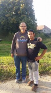 Izidor and his dad, Danny Ruckel