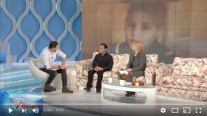 Izidor and Sarah on ProTV LaMaruta set