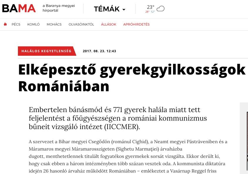 Hungarian newspaper article