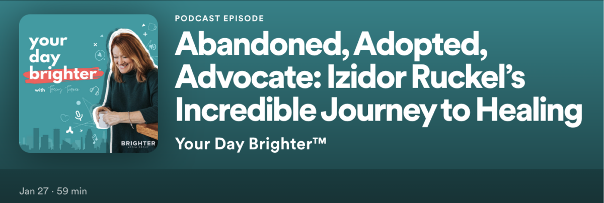 Tracey Teirnan podcast about Izidor