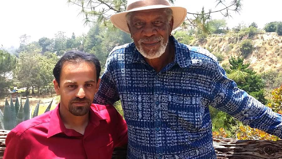 Izidor and Morgan Freeman