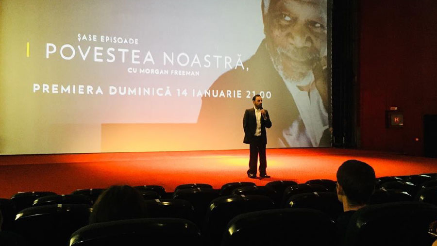 Izidor introduces Romanian premiere of Morgan Freeman's series