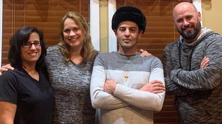 The Izidor Story team posing